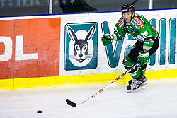 3.01.2014, Hala Tivoli, Ljubljana, SLO, EBEL, HDD Telemach Olimpija Ljubljana vs Dornbirner Eishockey Club, 63rd Game Day, in picture Anze Ropret (HDD Telemach Olimpija, #29) during the Erste Bank Icehockey League 63rd Game Day match between HDD Telemach Olimpija Ljubljana and Dornbirner Eishockey Club at the Hala Tivoli, Ljubljana, Slovenia on 2014/01/03. (Photo By Matic Klansek Velej / Sportida)