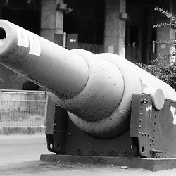 British RML 9 inch 12 ton gun. A large rifled muzzle-loading gun of the 1860s used for coast defence, this example in Freetown, Sierra Leone