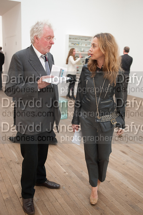 HUGH HUDSON; MARYAM D'ABO, Damien Hirst, Tate Modern: dinner. 2 April 2012.
