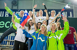 Supprters of  Blaz Rola  during Davis Cup Slovenia vs Lithuania competition, on October 30, 2015 in Kranj, Slovenia. Photo by Vid Ponikvar / Sportida