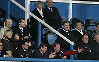 Photo: Lee Earle.<br /> Portsmouth v Manchester City. The Barclays Premiership. 10/02/2007.Portsmouth manager Harry Redknapp (BR) watches the end of the match from the stands.