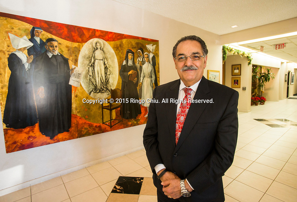Daughters of Charity Health System CEO Robert Issai is photographed at St. Vincent Medical Center in Los Angeles.<br /> Photo by Ringo Chiu/PHOTOFORMULA.com)