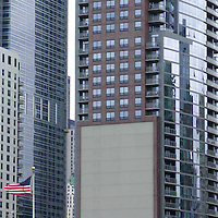 USA, Illinois, Chicago. Chicago architectural facades.
