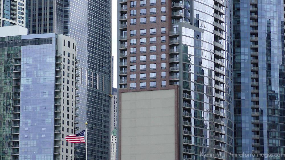 USA, Illinois, Chicago. Chicago architectural facades.