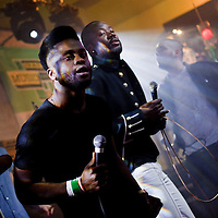 Picture shows : Edinburgh Band The Young Fathers performing at the second of three Creative Scotland  Band Showcases held at the British Music Embassy at Latitude off 6th Street during the SXSW Music Festival 2013. .Picture  &copy; Drew Farrell.<br />