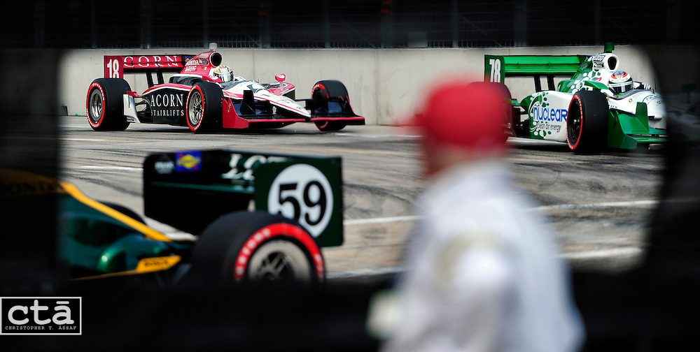 """A view from the """"cutout"""" at turn 3 during The Baltimore Grand Prix. The Indy Car race only lasted a few years in Charm City."""