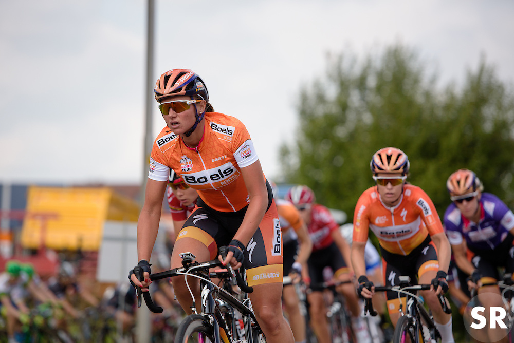 Race leader, Chantal Blaak (Boels Dolmans) at the 116 km Stage 5 of the Boels Ladies Tour 2016 on 3rd September 2016 in Tiel, Netherlands. (Photo by Sean Robinson/Velofocus).