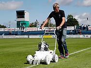 FODBOLD: Bane kridtes op til kampen i ALKA Superligaen mellem FC Helsingør og FC Midtjylland den 6. august 2017 på Helsingør Stadion. Foto: Claus Birch