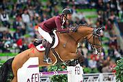 SHK Ali bin Khalid Al Thani - Vienna Olympic<br /> Alltech FEI World Equestrian Games™ 2014 - Normandy, France.<br /> © DigiShots