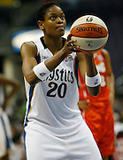 Washington Mystic guard Alana Beard takes a free throw during this WNBA game between the Mystics and the Sting at the Verizon Center in Washington, DC. The Mystics won 87-70.  June 13, 2006  (Photo by Mark W. Sutton)