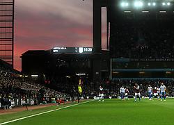 The sun sets over Villa Park - Photo mandatory by-line: Robbie Stephenson/JMP - Mobile: 07966 386802 - 07/04/2015 - SPORT - Football - Birmingham - Villa Park - Aston Villa v Queens Park Rangers - Barclays Premier League