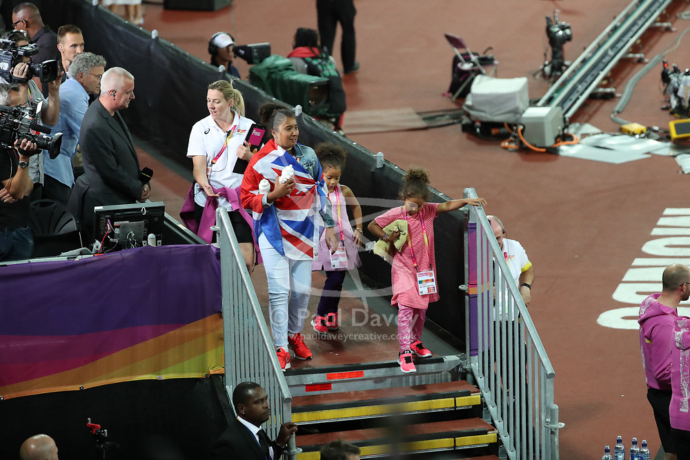 London, August 12 2017 . Mo Farah's family on day nine of the IAAF London 2017 world Championships at the London Stadium. © Paul Davey.