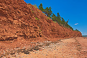 Red soil at The Redhead, St. Mary's Bay, Nova Scotia, Canada