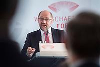13 JUN 2017, BERLIN/GERMANY:<br /> Martin Schulz,  SPD Parteivorsitzender und Kanzlerkandidat, haelt eine Rede, Jahreskonferenz, Wirtschaftsforum der SPD, Humboldt-Box<br /> IMAGE: 20170613-01-274
