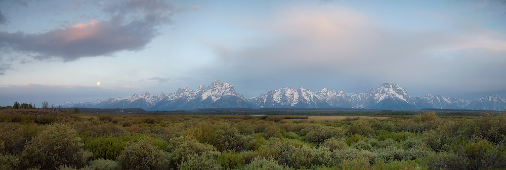 Large Pano of a sunrise in Grand Teton National Park