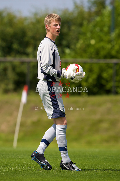 KIRKBY, ENGLAND - Saturday, July 26, 2008: Plymouth Argyle's goalkeeper xxxx during a pre-season friendly match at the Academy. (Pic by David Rawcliffe/Propaganda)