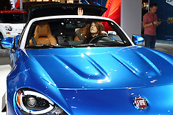 11 February 2016: Fiat 124 Spider convertible.<br /> <br /> First staged in 1901, the Chicago Auto Show is the largest auto show in North America and has been held more times than any other auto exposition on the continent.  It has been  presented by the Chicago Automobile Trade Association (CATA) since 1935.  It is held at McCormick Place, Chicago Illinois<br /> #CAS16