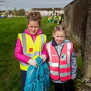 04.04.2017         <br /> St. Brigids National School, Singland Limerick were off the mark early for TLC3. <br /> Pictured during the clean up were, Zara Walters and Lucy Kelly. Picture: Alan Place