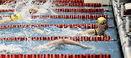 Kenton Ridge junior Lauren Funk (right) beats out Mariemont senior Christina Flessa (bottom) to win the 50 yard freestyle during the Girls Division II District Swimming Tournament at the Corwin Nixon Natatorium at Miami University, Saturday, February 16, 2008.