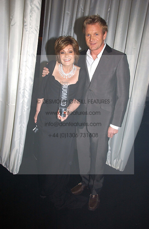 SHARON OSBOURNE and GORDON RAMSAY at the 2006 Glamour Women of the Year Awards 2006 held in Berkeley Square Gardens, London W1 on 6th June 2006.<br />