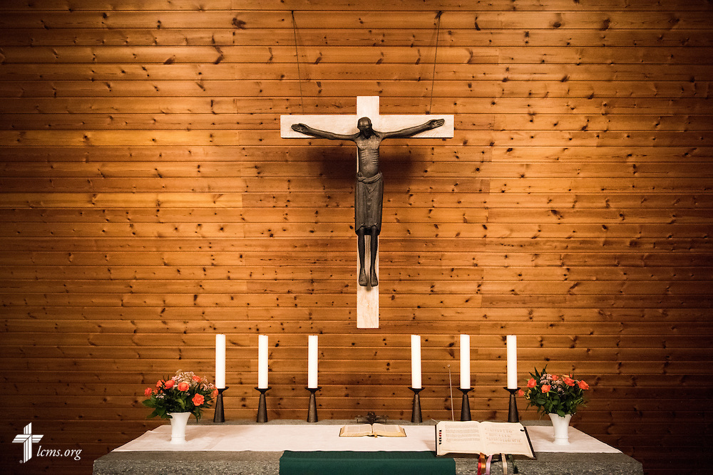 The crucifix at Paul-Gerhardt Gemeinde, a SELK Lutheran church in Braunschweig, Germany, on Thursday, Nov. 12, 2015. LCMS Communications/Erik M. Lunsford