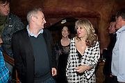 DOMINIC COOKE; KATE HORTON; SONIA FRIEDMAN, Opening in the West end of the Royal Court's Jerusalem after a run on Broadway..<br /> WAXY O CONNORS, 14-16 RUPERT STREET, LONDON . 17 October 2011.  <br /> <br />  , -DO NOT ARCHIVE-© Copyright Photograph by Dafydd Jones. 248 Clapham Rd. London SW9 0PZ. Tel 0207 820 0771. www.dafjones.com.