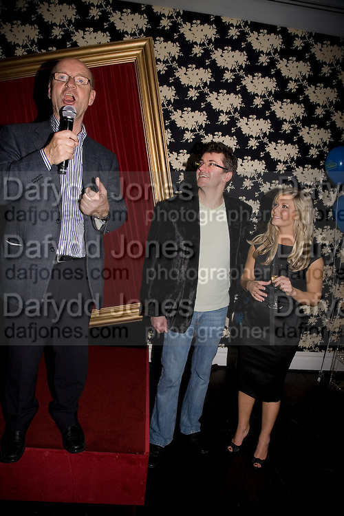 Gert Eklund, Joe Pasquale and Suzanne Shaw, Bingo Lotto launch party. Soho Hotel Richmond Mews. London. 29 February 2008.  *** Local Caption *** -DO NOT ARCHIVE-© Copyright Photograph by Dafydd Jones. 248 Clapham Rd. London SW9 0PZ. Tel 0207 820 0771. www.dafjones.com.