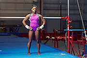Three-time world champion gymnast Simone Biles photographed in Houston, TX by celebrity advertising photographer Nathan Lindstrom.<br />