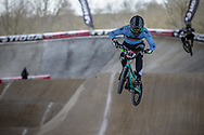 #248 (JANSSENS Marnicq) BEL at Round 2 of the 2018 UCI BMX Superscross World Cup in Saint-Quentin-En-Yvelines, France.