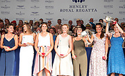 Henley on Thames, England, United Kingdom, 7th July 2019, Henley Royal Regatta, Prize Giving, The Remenham Challenge Cup, Waiariki Rowing Club, New Zealand,   [© Peter SPURRIER/Intersport Image]<br /> <br /> 17:32:50 1919 - 2019, Royal Henley Peace Regatta Centenary,