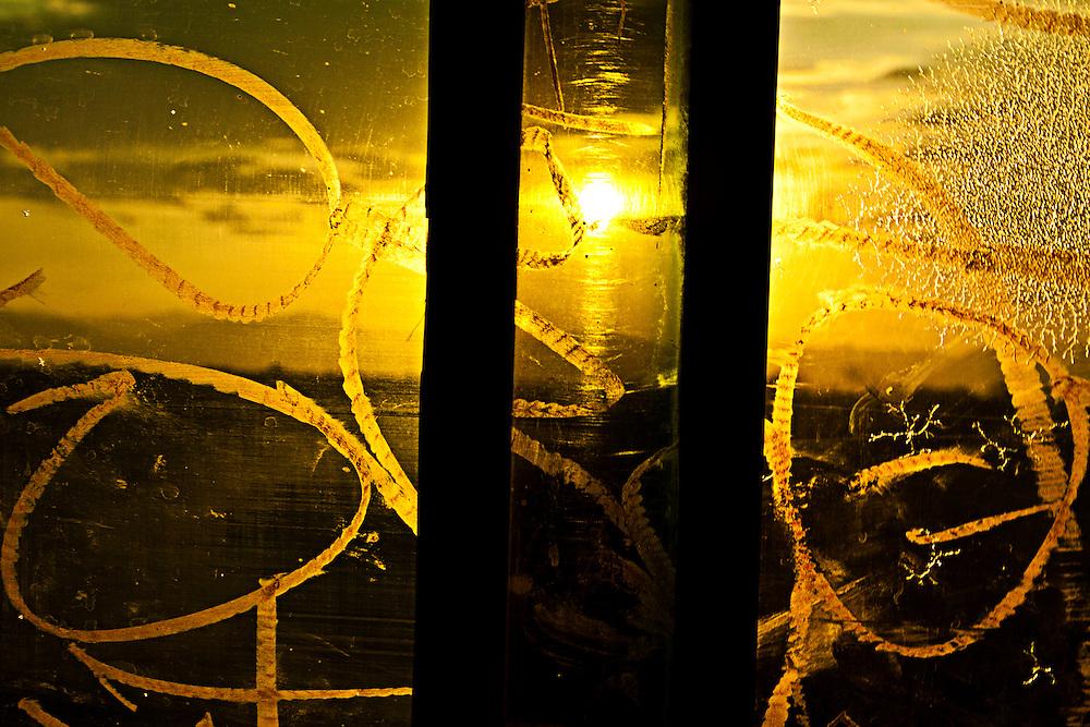 Los paisajes que se observan atreves de los vidrios entintados de los camiones atrapan la atención y liberan un poco de estrés durante el viaje.