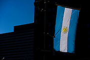 Philadelphia, Pennsylvania - September 17, 2015: The flag of Argentinian -- Pope Francis's home country -- flies in the wind along Benjamin Franklin Parkway Thursday September 17th, 2015. More than two-million people are expected to flood Philadelphia when the pontiff makes his first trip to the United States.<br /> <br /> <br /> Scott Mirkin's company ESM is heading the production of The World Meeting Of Families and Pope Francis's visit to Philadelphia this Fall. The events will take place along the Benjamin Franklin Parkway.<br /> <br /> CREDIT: Matt Roth for The New York Times<br /> Assignment ID: 30179397A