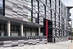 Exterior of Wharton Square new affordable housing in Edinburgh, Scotland, United Kingdom.