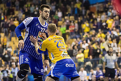 Banhidi Bence of MOL Pick Zseged vs Kodrin Tilen of RK Celje Pivovarna Lasko during VELUX EHF Champions League handball match between RK Celje Pivovarna Lasko vs MOL Pick Szegad on the February 10. 2019, Celje, Slovenia. Photo by Matic Ritonja / Sportida