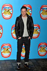 Mat Cardle arrives at the show with a black eye.<br /> Celebrities attend the opening night of new West End show 'I Can't Sing' at The London palladium, London, UK. Wednesday, 26th March 2014. Picture by Ben Stevens / i-Images