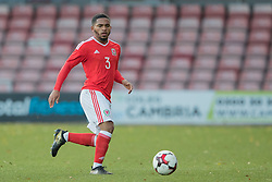 WREXHAM, WALES - Thursday, November 10, 2016: Wales' Cole DaSilva in action against Greece during the UEFA European Under-19 Championship Qualifying Round Group 6 match at the Racecourse Ground. (Pic by Gavin Trafford/Propaganda)