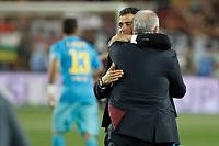 Barcelona´s  coach Luis Enrique celebrates winning the 2014-15 Copa del Rey final match between Barcelona and Athletic de Bilbao at Camp Nou stadium in Barcelona, Spain. May 30, 2015. (ALTERPHOTOS/Victor Blanco)