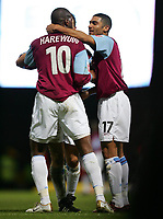 marlon harewood celebrate the winner for west ham against norwich-F A CUP 3RD ROUND-08 JAN 2005-WEST HAM V NORWICH-COLORSPORT / KIERAN GALVIN