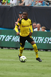 July 22, 2018 - Charlotte, NC, U.S. - CHARLOTTE, NC - JULY 22: Denzell Boadu (43) of Borussia Dortmund with the ball during the International Champions Cup soccer match between Liverpool FC and Borussia Dortmund in Charlotte, N.C. on July 22, 2018. (Photo by John Byrum/Icon Sportswire) (Credit Image: © John Byrum/Icon SMI via ZUMA Press)
