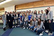 team under 20, team nazionale femminile senior<br /> Stelle d'Argento a Lucca. Premiazione Under 17 e Under 20 Femminili<br /> FIP 2016<br /> Lucca, 18/11/2016<br /> Foto Ciamillo - Castoria