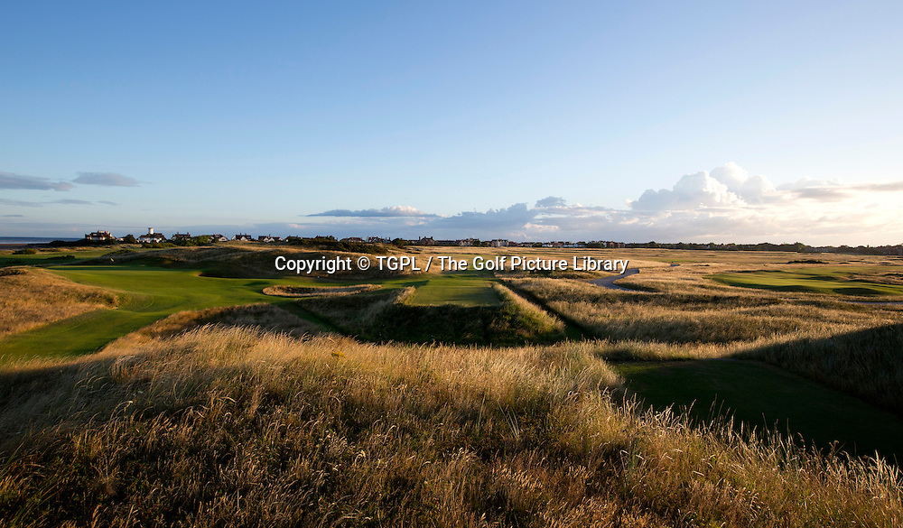 Left: 13th par 3 Right: 6th par 3 Royal Liverpool during autumn 2013,Hoylake,Whirral,England.Venue for The Open Championship 2014.