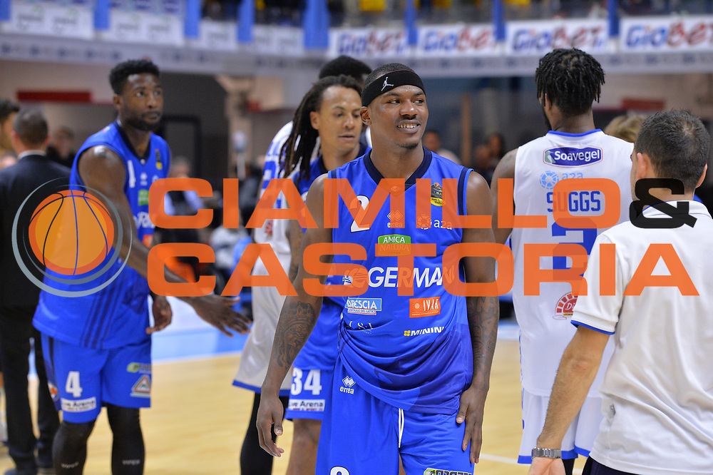 Moore Lee<br /> Happycasa Brindisi - Germani Basket Brescia<br /> Legabasket serieA2017-2018<br /> Brindisi , 29/10/2017<br /> Foto Ciamillo-Castoria/M.Longo