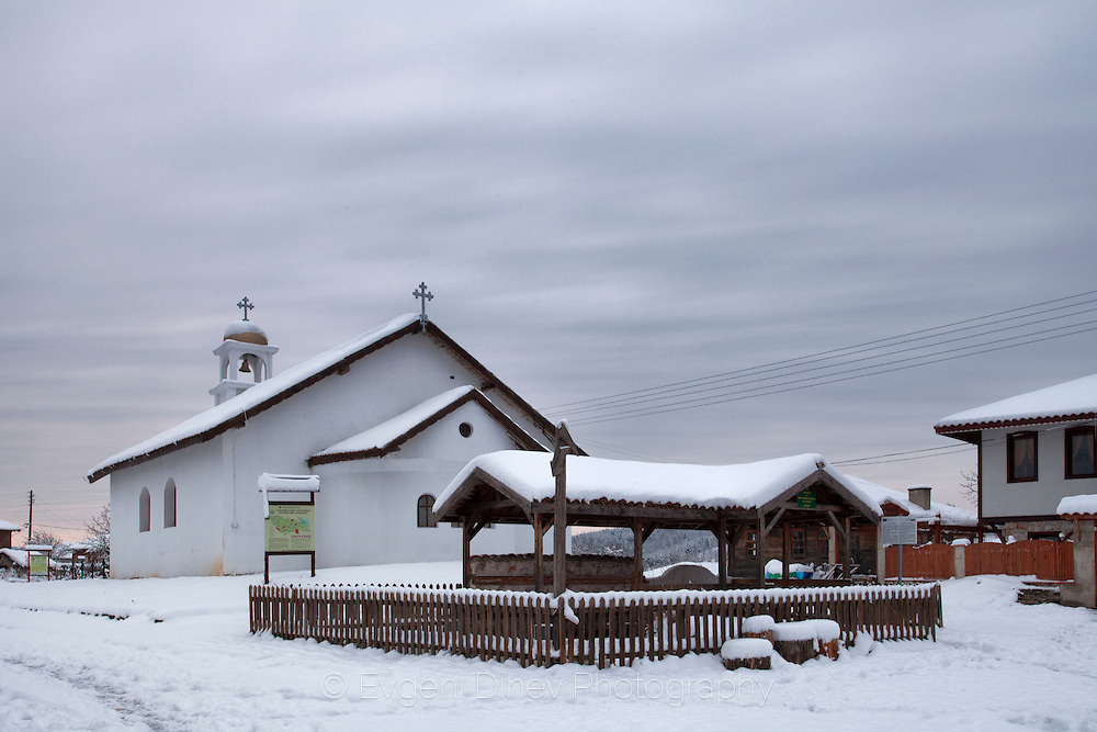 Village of Stoilovo in Strandzha mountain at winter