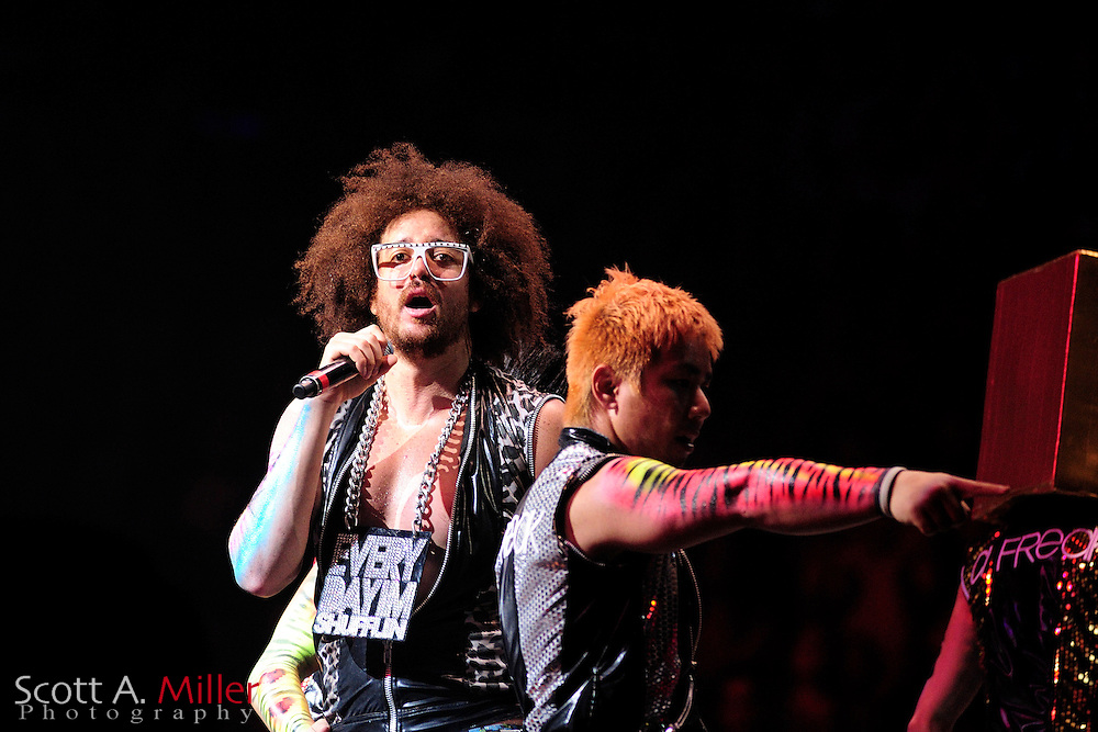 LMFAO performing in the Amway Center on June 24, 2012 in Orlando, Florida...©2012 Scott A. Miller