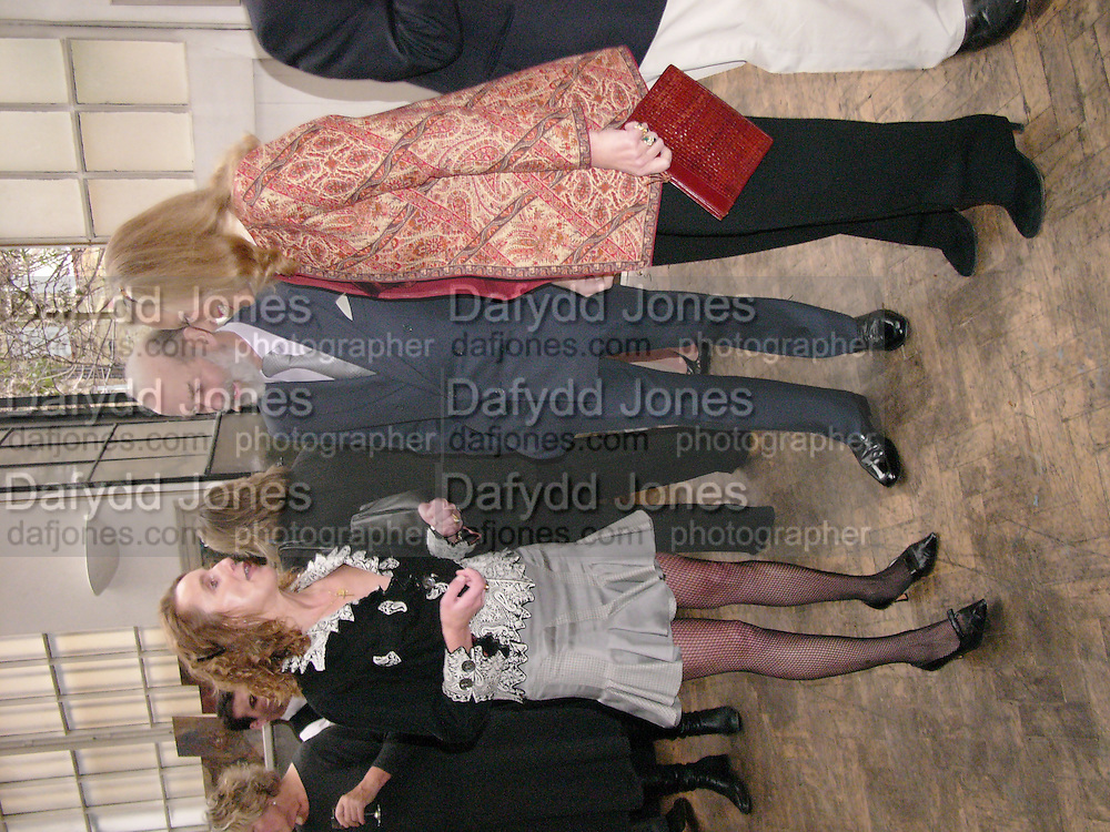 Emma Sergeant ( Zamoyski)  with Prince and Princess Michael of Kent<br /> 1812 Napoleon's Fatal March on Moscow by Adam Zamoyski book launch. Avenue Studios. Fulham Rd. 5 April 2004. ONE TIME USE ONLY - DO NOT ARCHIVE  &copy; Copyright Photograph by Dafydd Jones 66 Stockwell Park Rd. London SW9 0DA Tel 020 7733 0108 www.dafjones.com