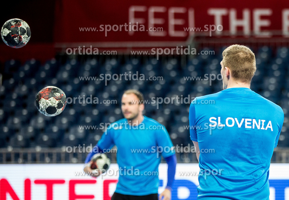 Balls during practice session of Team Slovenia on Day 1 of Men's EHF EURO 2016, on January 15, 2016 in Centennial Hall, Wroclaw, Poland. Photo by Vid Ponikvar / Sportida