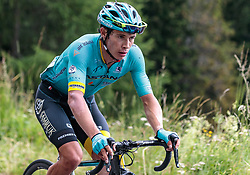 07.07.2017, St. Johann Alpendorf, AUT, Ö-Tour, Österreich Radrundfahrt 2017, 5. Kitzbühel - St. Johann/Alpendorf (212,5 km), im Bild Miguel Angel Lopez Moreno (COL, Astana Pro Team) // Miguel Angel Lopez Moreno (COL, Astana Pro Team) during the 5th stage from Kitzbuehel - St. Johann/Alpendorf (212,5 km) of 2017 Tour of Austria. St. Johann Alpendorf, Austria on 2017/07/07. EXPA Pictures © 2017, PhotoCredit: EXPA/ JFK