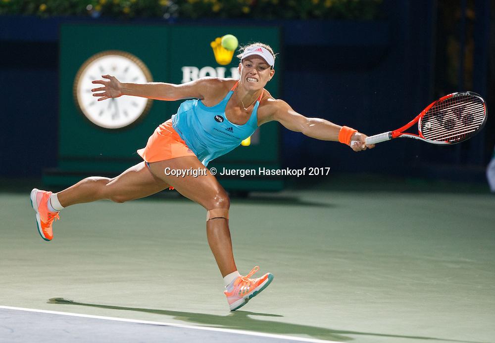 ANGELIQUE KERBER (GER)<br /> <br /> Tennis - Dubai Tennis Championships 2017 -  WTA -  Dubai Duty Free Tennis Stadium - Dubai  -  - United Arab Emirates  - 23 February 2017.