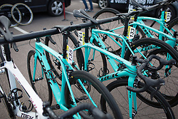 Drops Cycling Team bikes lined up before the start of the Aviva Women's Tour 2016 - Stage 1. A 138.5 km road race from Southwold to Norwich, UK on June 15th 2016.
