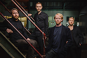 Portraits of the Icelandic band Árstídir taken on-location at Toppstödin power station in Reykjavík, Iceland. March 26, 2014. Copyright © 2014 Matthew Eisman. All Rights Reserved